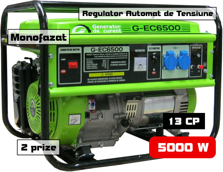 generator curent 5kW GREENFIELD G-EC6500