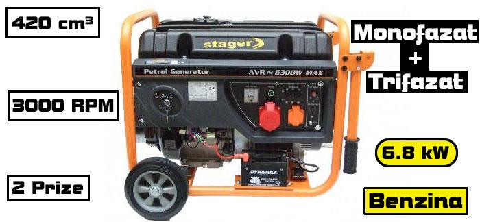 generator monofazat trifazat Stager GG7300-3EW