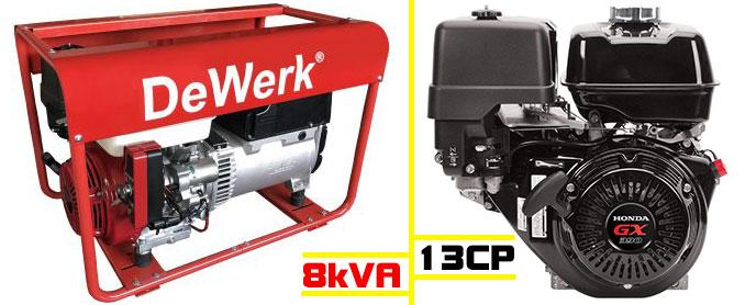 generator motor honda pornire electrica DW 8.0 SH Electric