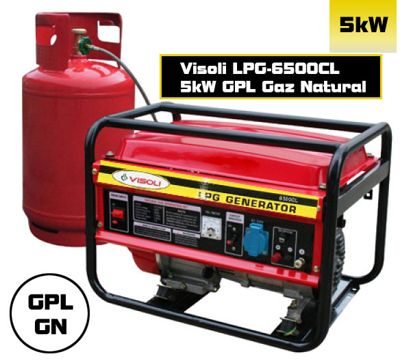 GPL Gaz Natural Generator Visoli LPG-6500CL