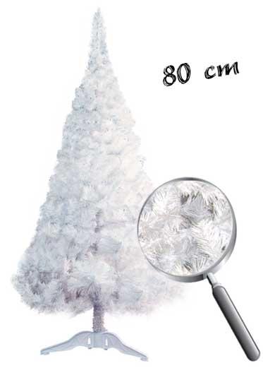 Brad artificial ieftin alb 80 cm